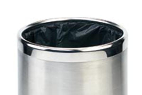 BoXin-Bedroom Garbage Can, Stainless Steel Metal Hotel Room Waste Bin-4