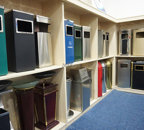 BoXin-Bedroom Garbage Can, Stainless Steel Metal Hotel Room Waste Bin-9
