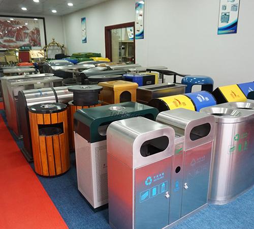 BoXin-Bedroom Garbage Can, Stainless Steel Metal Hotel Room Waste Bin-10