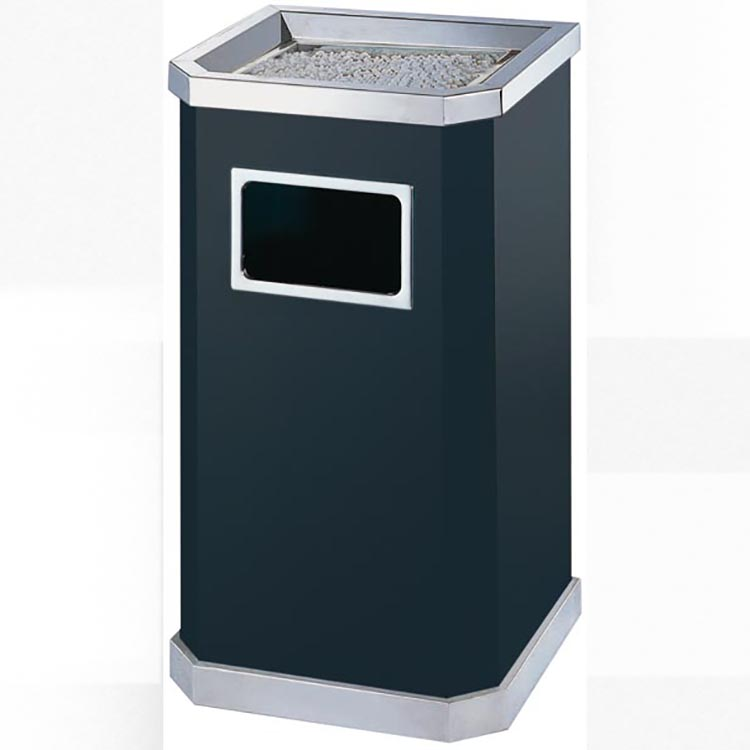 BoXin-Manufacturer Of Ashtray Garbage Combo Hotel Lobby Trash Can With Ashtray-2