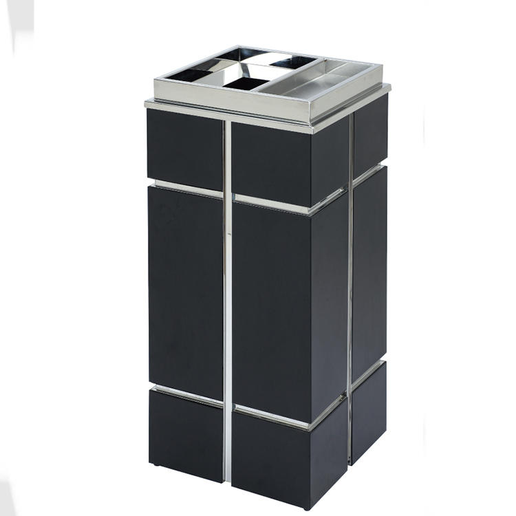 Hotel metal waste bin lobby trash bin ground ash barrel