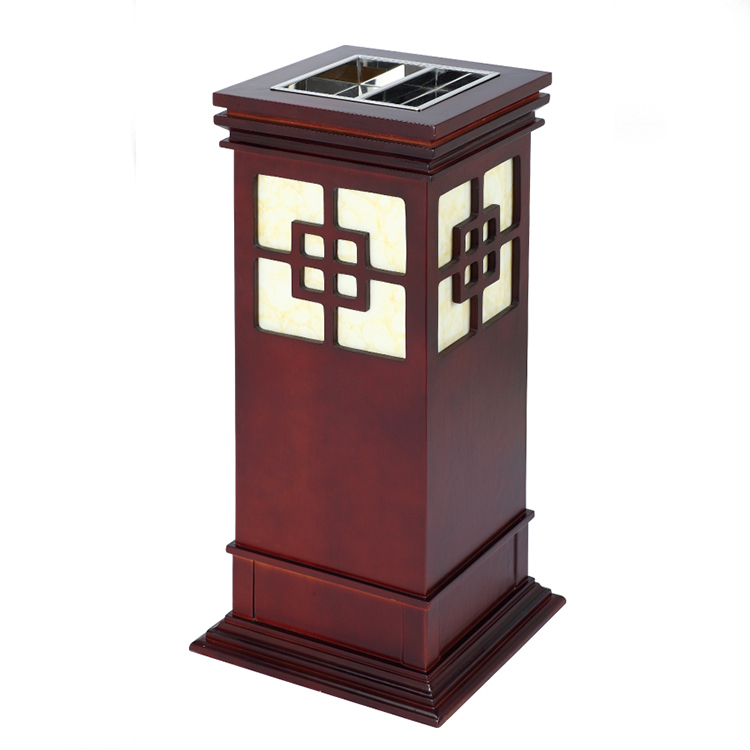BoXin-High-quality Trash Can Ashtray Combo | Hotel Metal Waste Bin Lobby Trash-3
