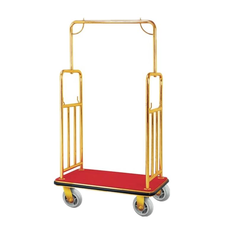 BOXIN Service Stainless Storage Trolley for Hotel Lobby With Wheels
