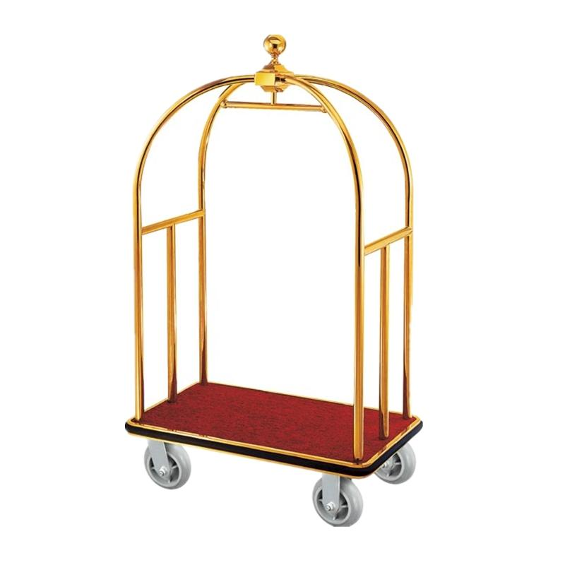 BOXIN Hotel Trolley Room Stainless Steel Luggage Service Cart