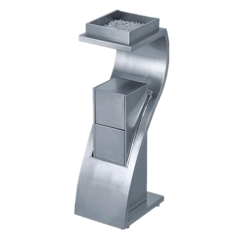 METAL/stainless steel garbage can hotel trash can