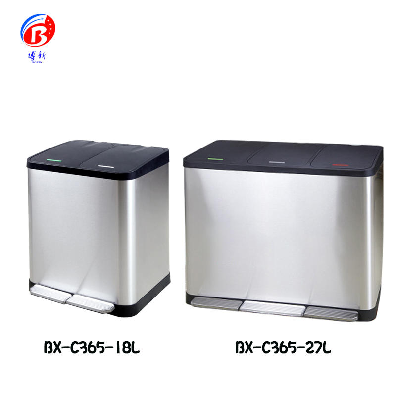Stainless steel classification pedal trash can barrel home outdoor hotel office school shopping mall and industrial barrel