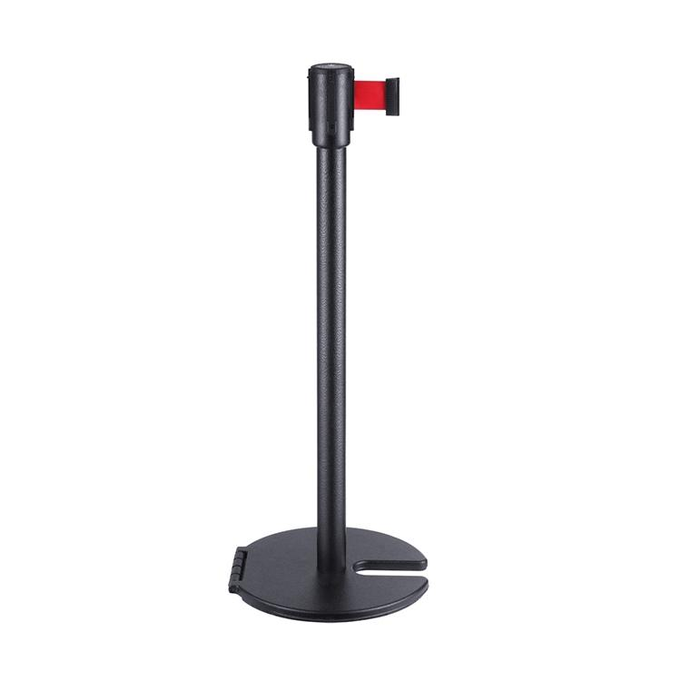 Customizable Printed Steel Single Line Printing Queue Stand Stackable Belt Barrier