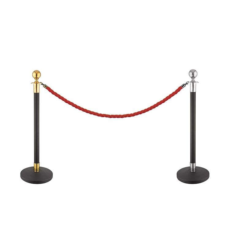 black car show structural steel stanchions red rope barrier queue line stand