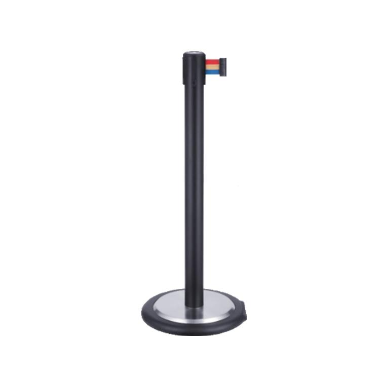 High Quality Retractable Crowd Control Belt Queue Pole For Bank