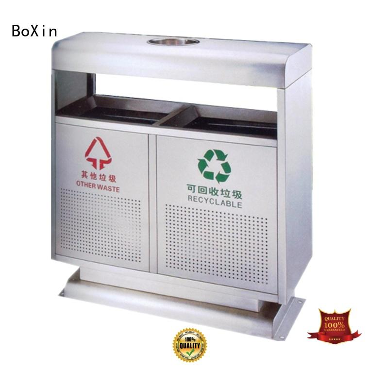 BoXin durable outdoor garbage bins customization business building