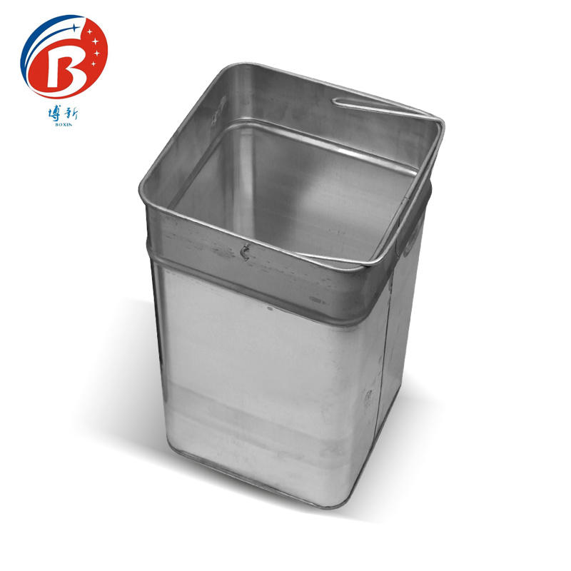 red metal trash can champagne BoXin-2