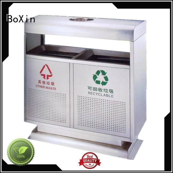 BoXin recycle large stainless steel trash can OEM for outdoor