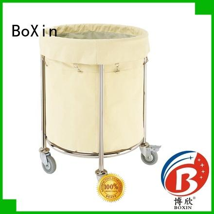 BoXin wholesale room service trolley price with wheels for hotel