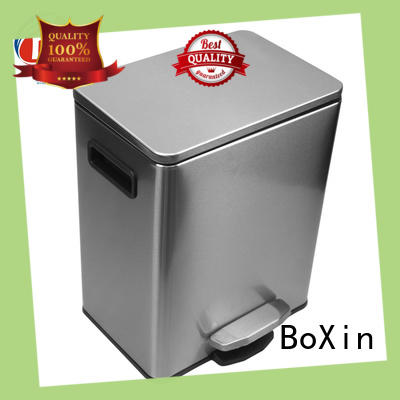BoXin durable bathroom trash can with lid ODM