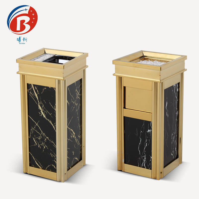 BoXin durable trash can with ashtray for wholesale-3