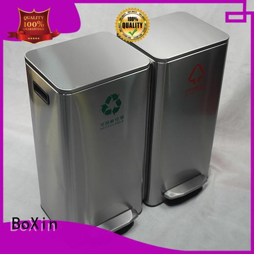BoXin decorative commercial bathroom trash cans OEM