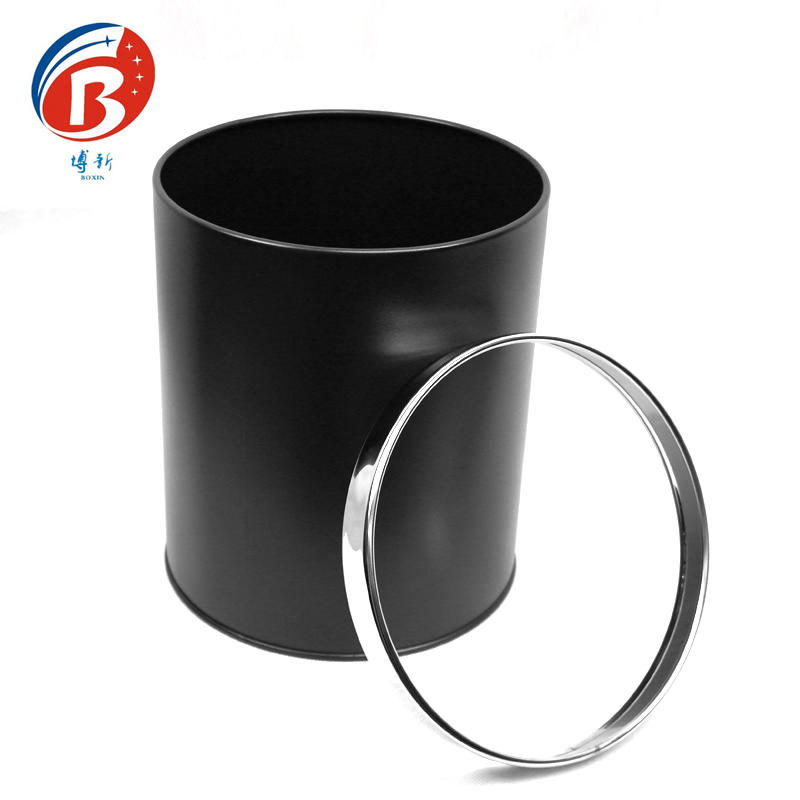 BoXin-High Quality Stainless Steel Waste Bin Dustbin Trash Can-1