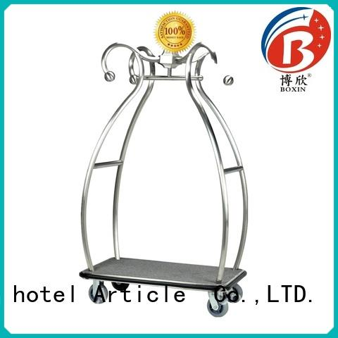 BoXin stainless luggage trolley price for business for baggage carry