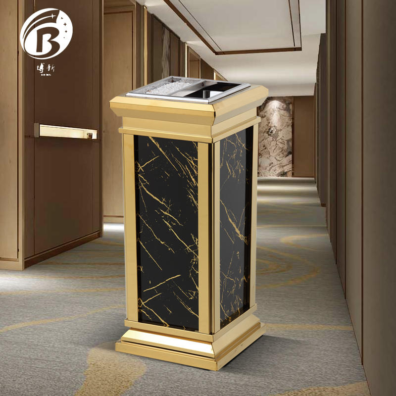 BoXin-Find Indoor Garbage Bins Commercial Trash Can With Ashtray From Boxin