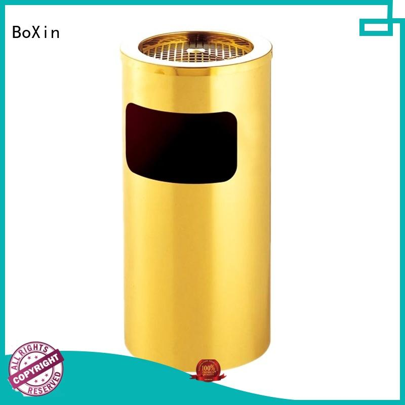 BoXin solid mesh garbage can with ashtray customization