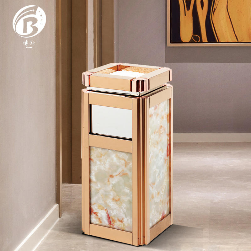BoXin on-sale garbage can with ashtray for wholesale-1