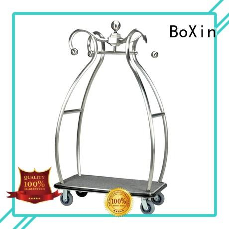 BoXin hotel style luggage cart manufacturers for valued guests